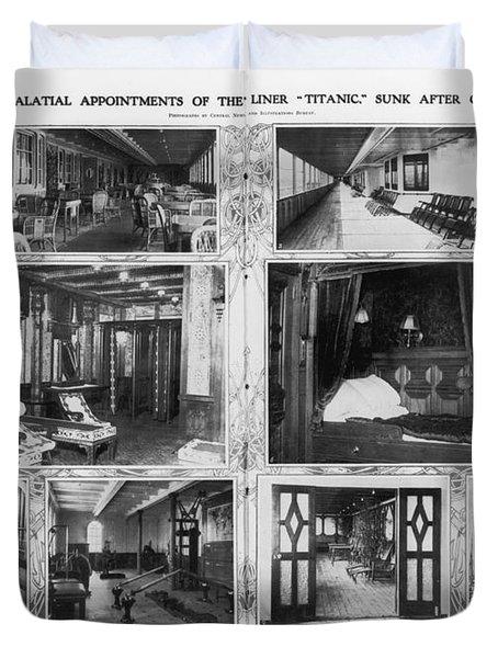 Titanic: Amenities, 1912 Duvet Cover