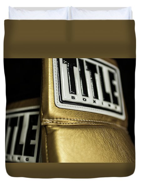 Title Boxing Gloves Duvet Cover