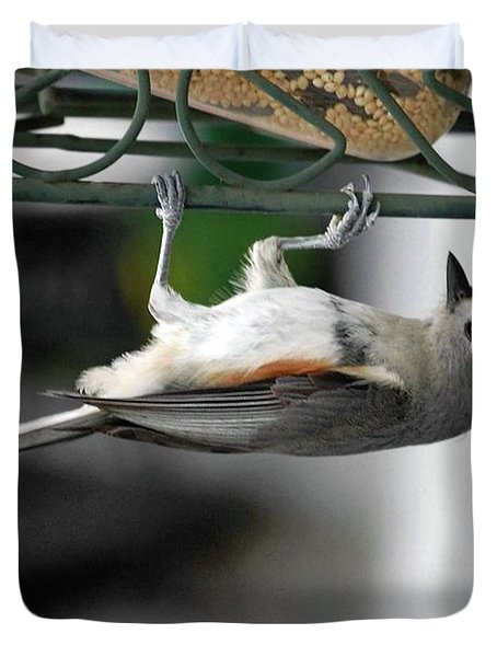 Titmouse Trickery Duvet Cover by DigiArt Diaries by Vicky B Fuller