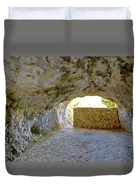 Tito's Cave On Vis Island Duvet Cover by Brch Photography