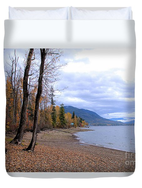 The Song Of October Duvet Cover by Victor K