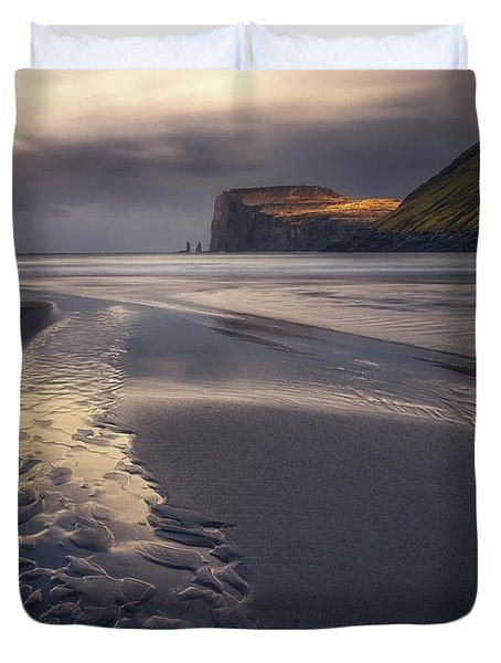 Tjornuvik Beach Duvet Cover