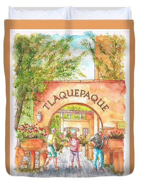 Tlaquepaque Gallery In Sedona, Arizona Duvet Cover