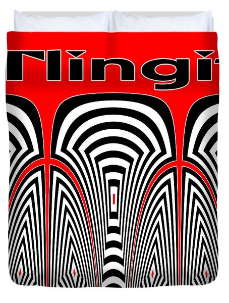 Tlingit Tribute Duvet Cover
