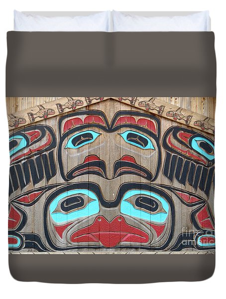Tlingit Wall Panel Duvet Cover
