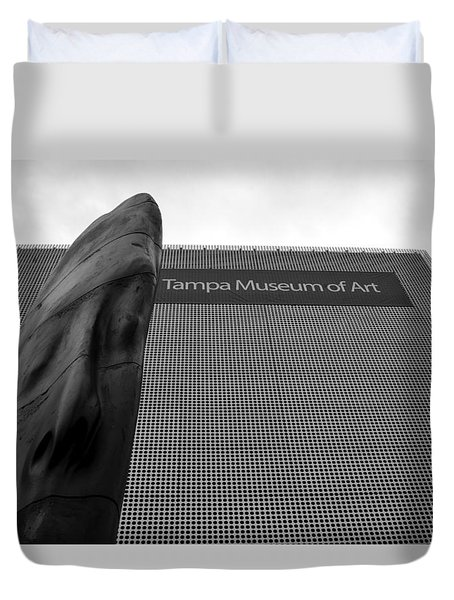 Duvet Cover featuring the photograph Tampa Museum Of Art Work A by David Lee Thompson