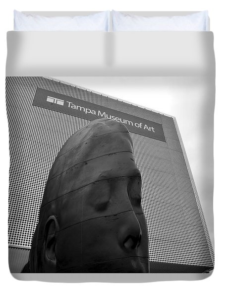 Duvet Cover featuring the photograph Tampa Museum Of Art Work B by David Lee Thompson