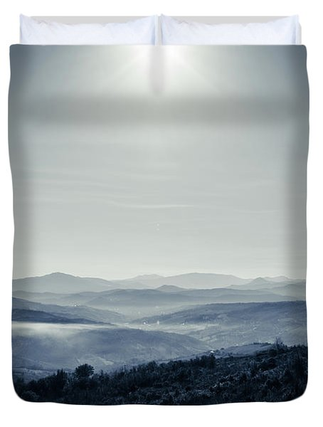 To A Peaceful Valley Duvet Cover