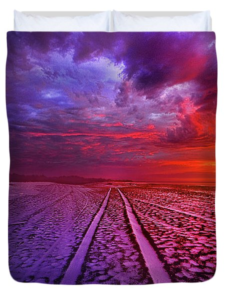 Duvet Cover featuring the photograph To All Ends Of The World by Phil Koch