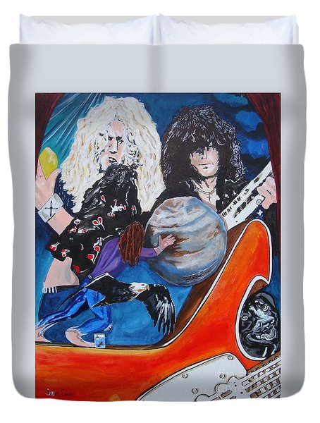 To Be A Rock And Not To Roll Duvet Cover by Stuart Engel