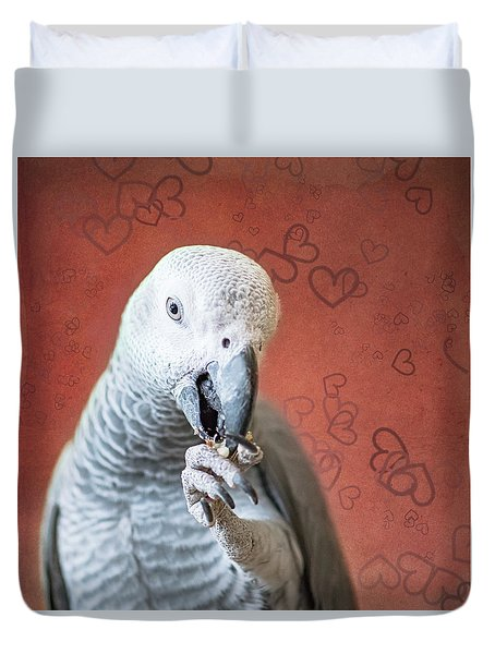 To Be Owned By A Grey Is To Know Love Duvet Cover