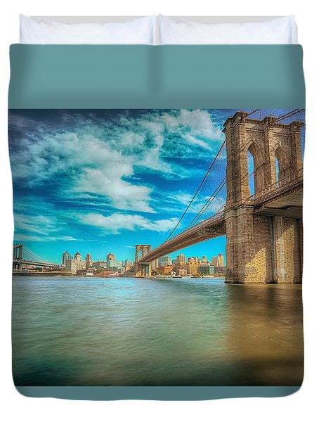 To Brooklyn And Back Duvet Cover