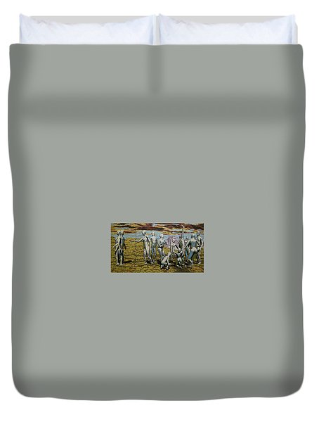 To Dance Duvet Cover by Leo Mazzeo
