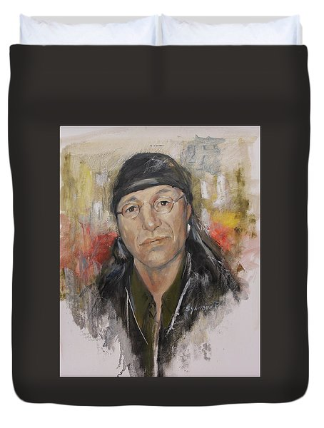 To Honor John Trudell Duvet Cover
