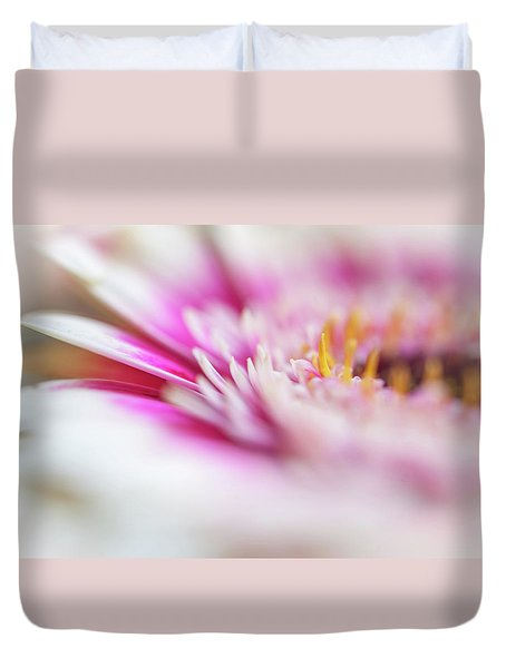 Duvet Cover featuring the photograph To Live In Dream 1. Macro Gerbera by Jenny Rainbow