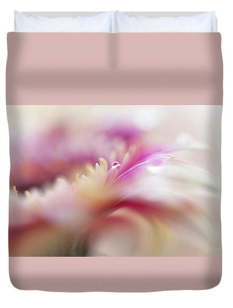 Duvet Cover featuring the photograph To Live In Dream 3. Macro Gerbera by Jenny Rainbow