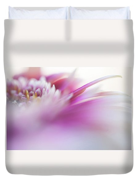 Duvet Cover featuring the photograph To Live In Dream. Macro Gerbera by Jenny Rainbow