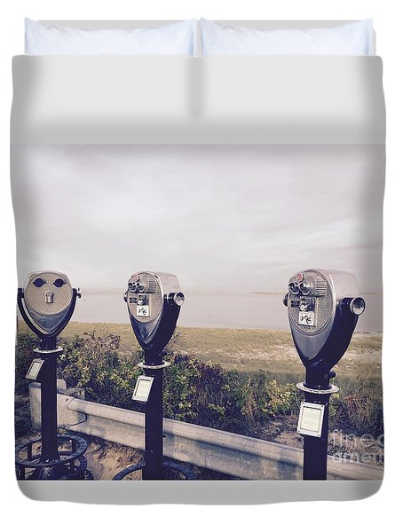 To See The Sea Duvet Cover by Beth Saffer