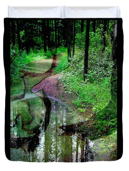 To Take Or Not Duvet Cover by Shirley Sirois