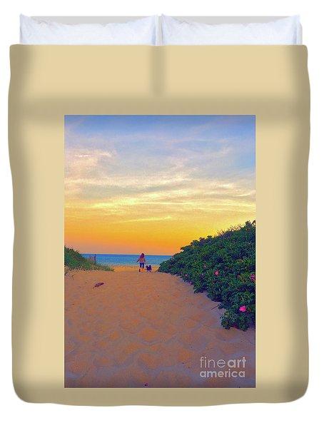 To The Beach Duvet Cover