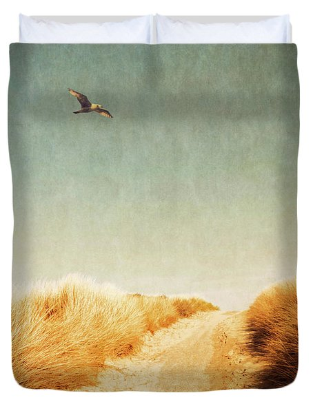 To The Beach Duvet Cover by Wim Lanclus