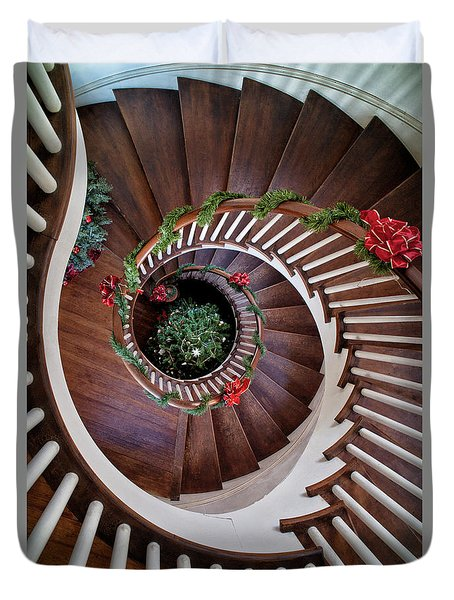 To The Bottom Of The Staircase Duvet Cover