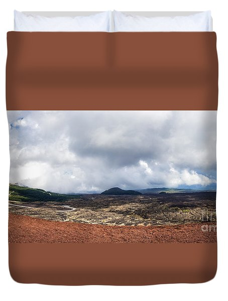 To The East Side Duvet Cover by Giuseppe Torre