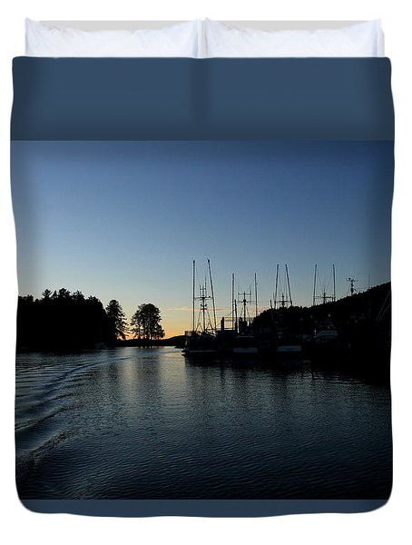 To The Harbor Duvet Cover
