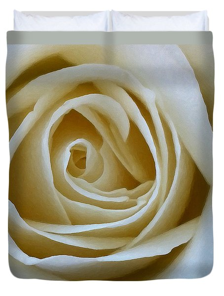 To The Heart Of The Rose Duvet Cover