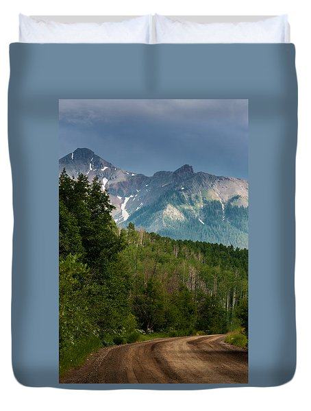 To The Mountains Duvet Cover