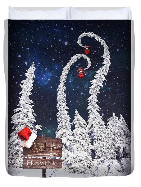 To The North Pole Duvet Cover