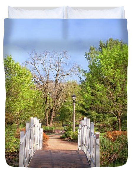 Duvet Cover featuring the photograph To The Other Side Of Spring by Angie Tirado