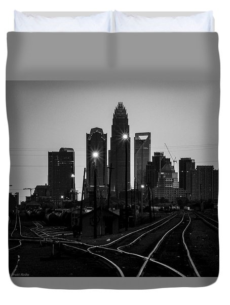 To The Queen City Duvet Cover