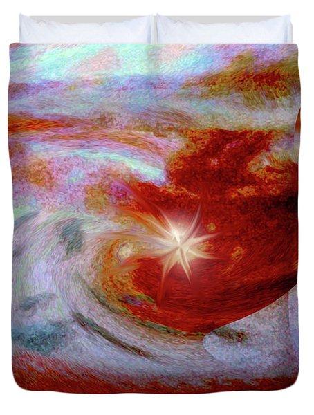 To The Stars Duvet Cover by Linda Sannuti