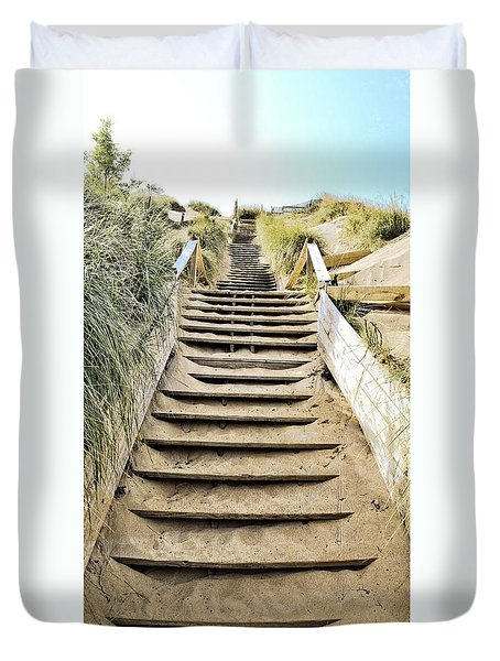 Duvet Cover featuring the photograph To The Top by Michelle Calkins