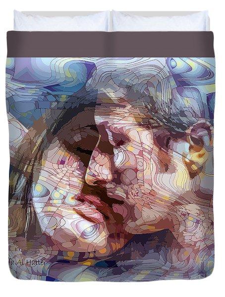 An Interval Of Time Duvet Cover by Moustafa Al Hatter