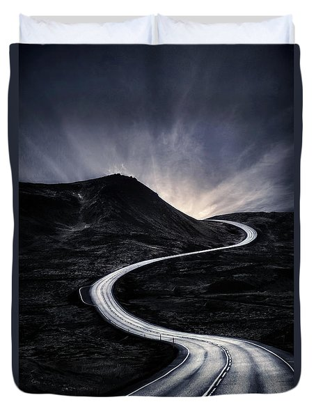 To Where The Darkness Ends Duvet Cover