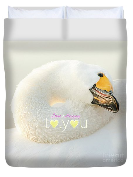Duvet Cover featuring the photograph To You #001 by Tatsuya Atarashi