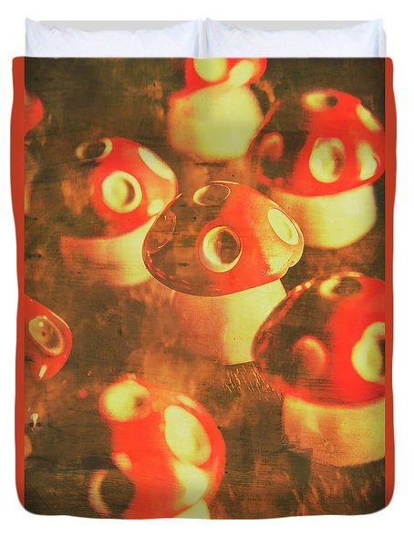 Toadstools From Old Worlds Duvet Cover