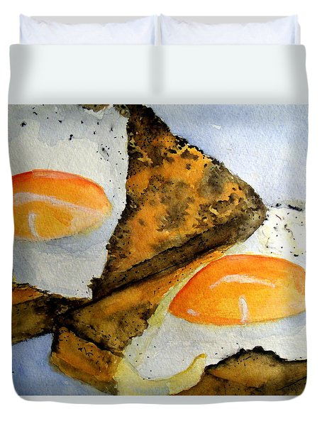 Toast And Eggs Duvet Cover