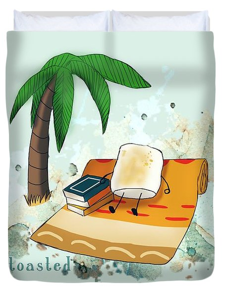 Toasted Illustrated Duvet Cover by Heather Applegate
