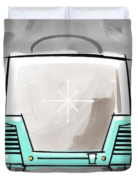 Toaster Aqua Duvet Cover