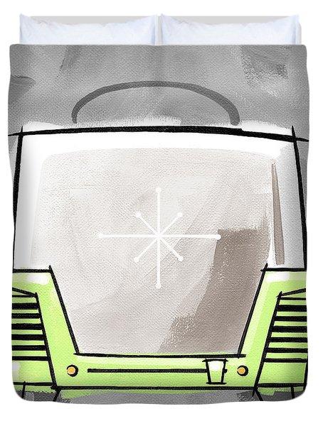 Toaster Lime Duvet Cover