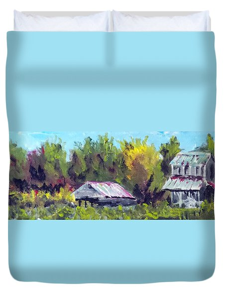 Tobacco Barn On Deppe Loop Rd Duvet Cover