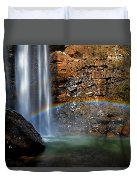 Toccoa Falls Rainbow 001 Duvet Cover by George Bostian