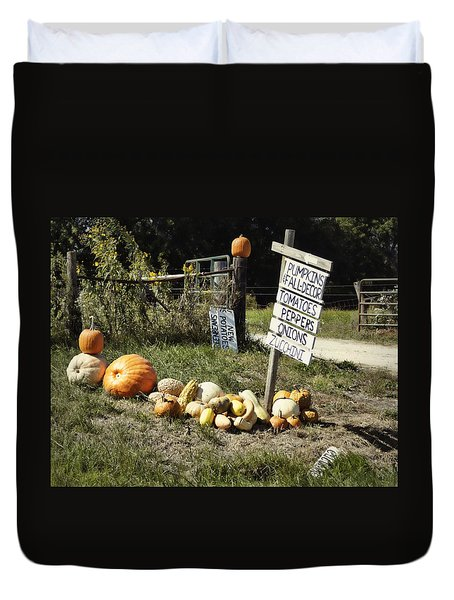 Duvet Cover featuring the photograph Today's Harvest by Cricket Hackmann