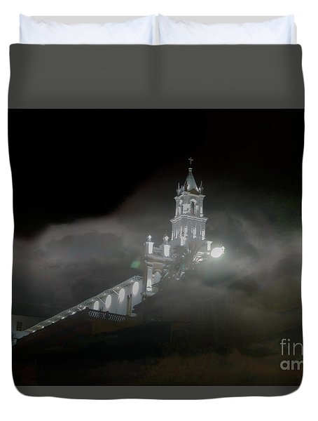Todos Santos In The Fog Duvet Cover by Al Bourassa