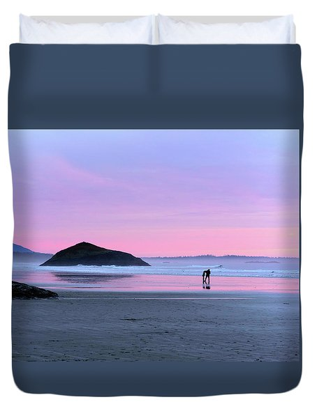 Tofino Sunset Duvet Cover by Keith Boone