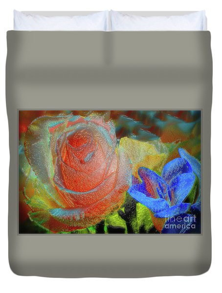 Duvet Cover featuring the photograph Together by Lance Sheridan-Peel