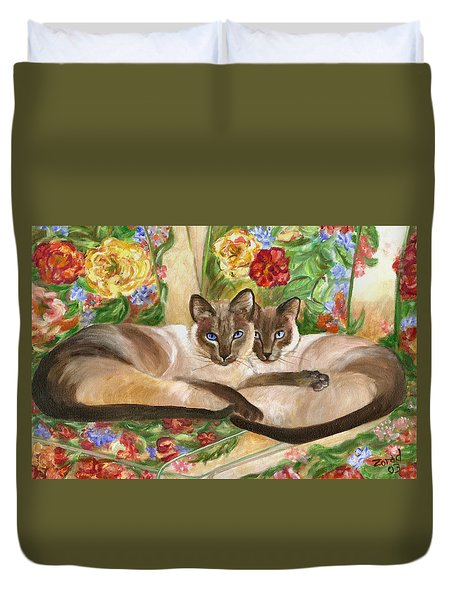Together Duvet Cover by Mary Jo Zorad